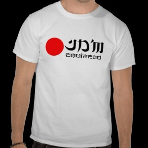 JDM equipped T-shirtRed logo.